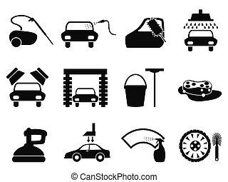 Iconos de lavado de autos