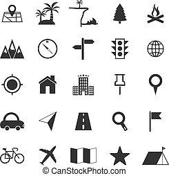 iconos de localización de fondo blanco