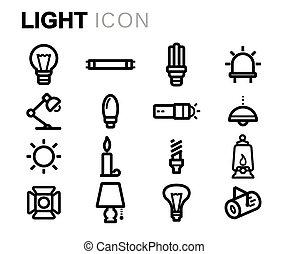 Iconos de luz Vector
