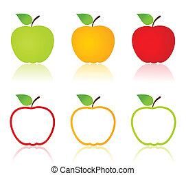 iconos de manzana