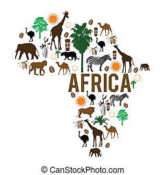 iconos de mapas de África