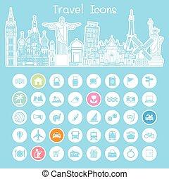 Iconos de marca de viaje
