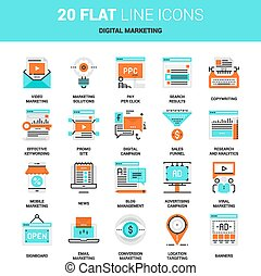 iconos de marketing digital