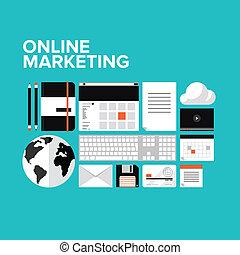 Iconos de marketing en línea