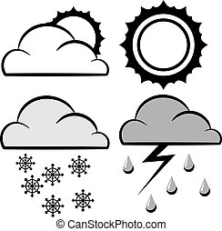 iconos de meteorología