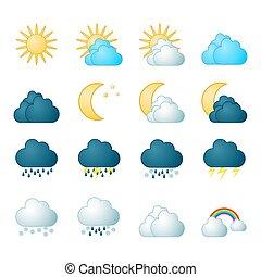 Iconos de meteorología listos