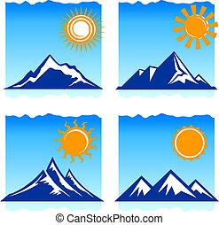 iconos de montañas