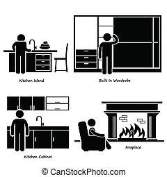 Iconos de muebles integrados