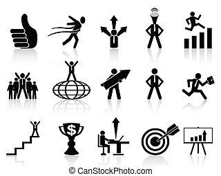 iconos de negocios exitosos