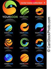 iconos de negocios globales