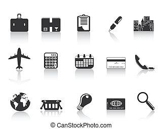 iconos de negocios negros