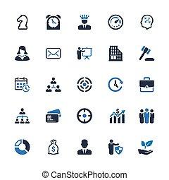 iconos de negocios - serie azul (Set 4)