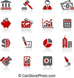 iconos de negocios y finanzas / redico