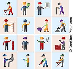 iconos de obreros