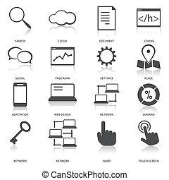 Iconos de optimización del motor de búsqueda fijados