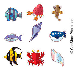 iconos de peces cartón