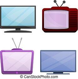 Iconos de películas caseras, estilo de dibujos animados