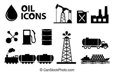 iconos de petróleo