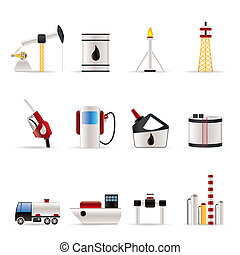 iconos de petróleo y petróleo