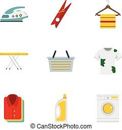 Iconos de plancha, estilo plano