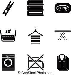 Iconos de plancha, estilo simple