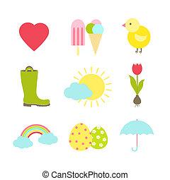 iconos de primavera