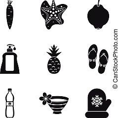 Iconos de protección femenina, estilo simple