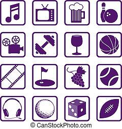 iconos de recreación