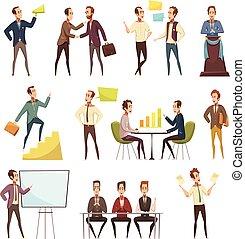 iconos de reunión de negocios