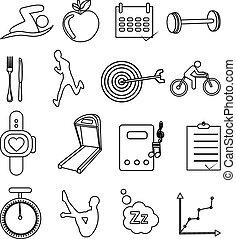 Iconos de salud ajustados