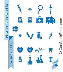 iconos de salud y medicina.