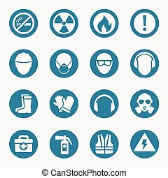 Iconos de salud y signos de seguridad