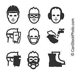 Iconos de seguridad del trabajo