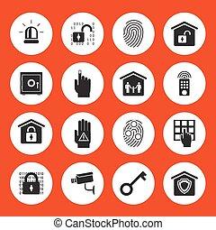 iconos de seguridad en casa