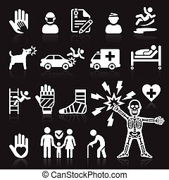 Iconos de seguros listos.