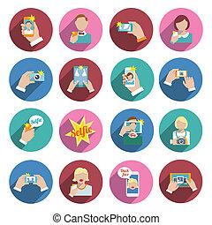 iconos de selfie