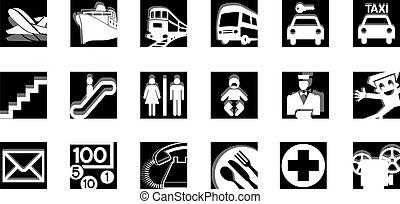 iconos de servicio BW