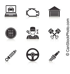 iconos de servicio de automóviles vol 2
