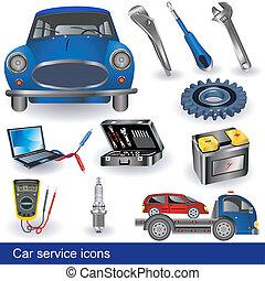 iconos de servicio de autos