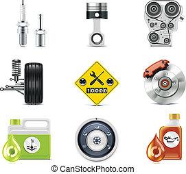 iconos de servicio de autos. P.3