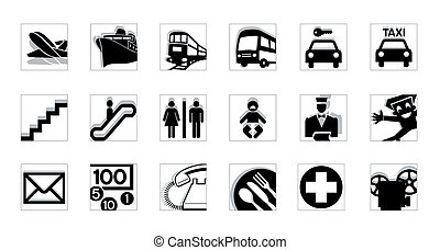 iconos de servicio invertidos
