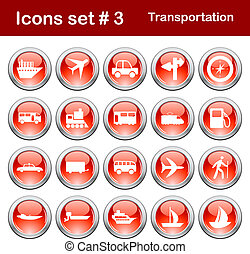 iconos de transporte listos