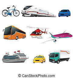 iconos de transporte público