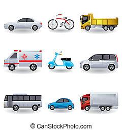 Iconos de transporte realistas