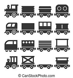 iconos de tren listos