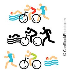 iconos de triatlón