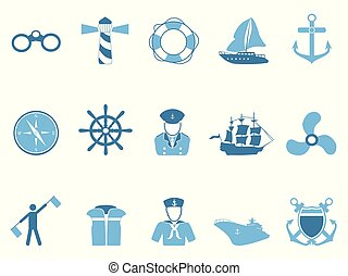 iconos de vela azul listos