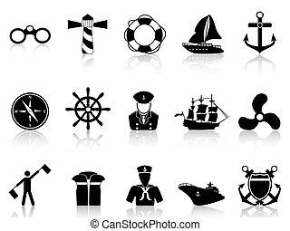 iconos de vela negra