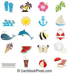 iconos de verano listos