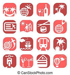 iconos de viaje color